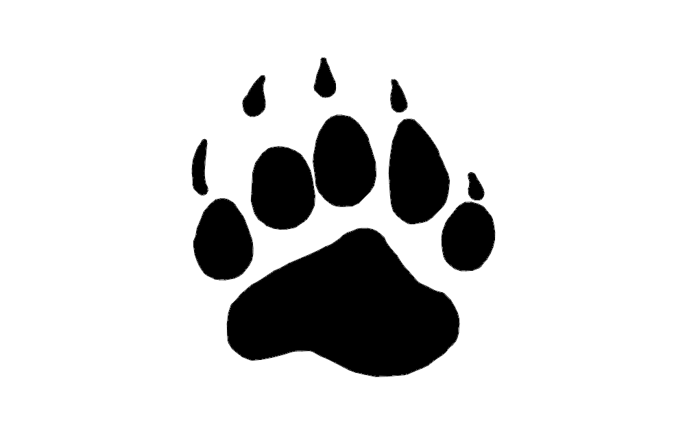 bear paw Free Dxf for CNC