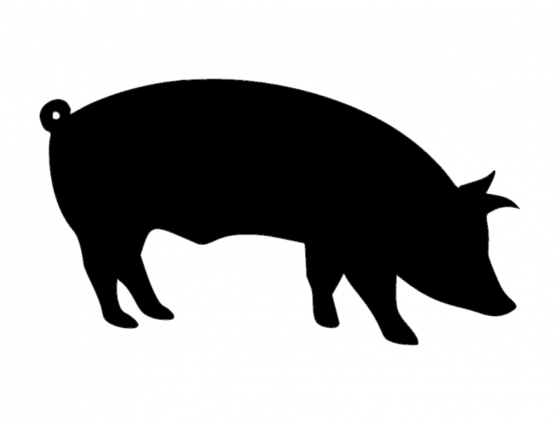 pig silhouette Free Dxf for CNC