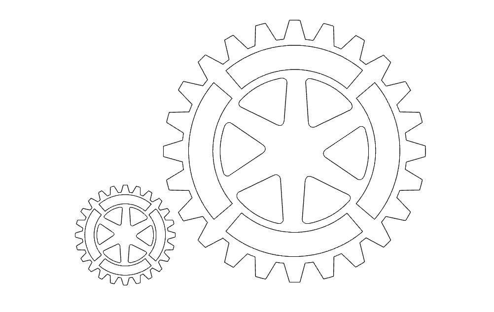 cam 3 (gear) Free Dxf for CNC