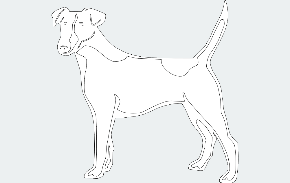 dog 2 Free Dxf for CNC