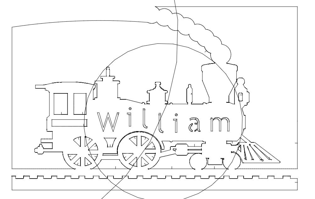 locomotive william Free Dxf for CNC