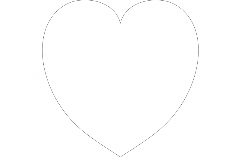 heart outline Free Dxf for CNC