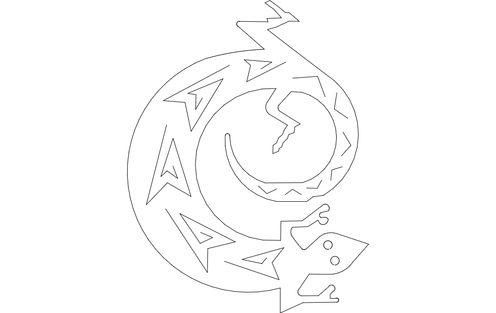 lizard Free Dxf for CNC