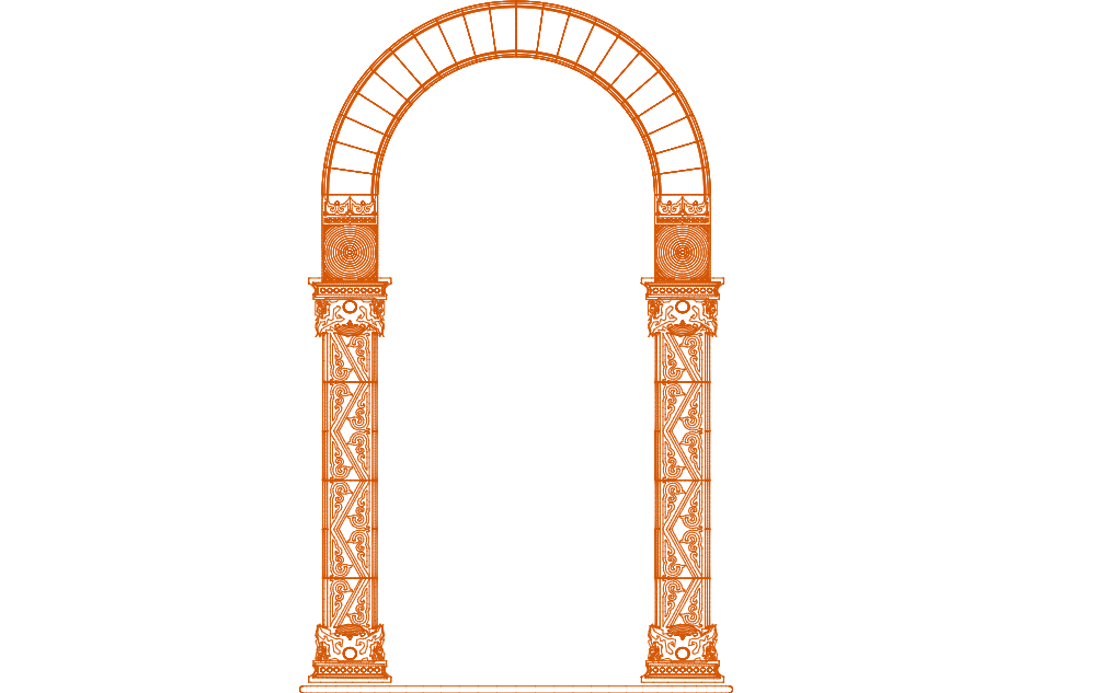 ornamental panel 10 Free Dxf for CNC