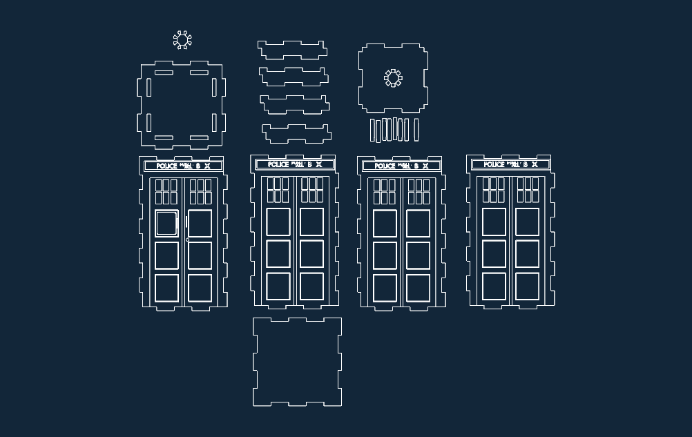 tardis layout Free Dxf for CNC