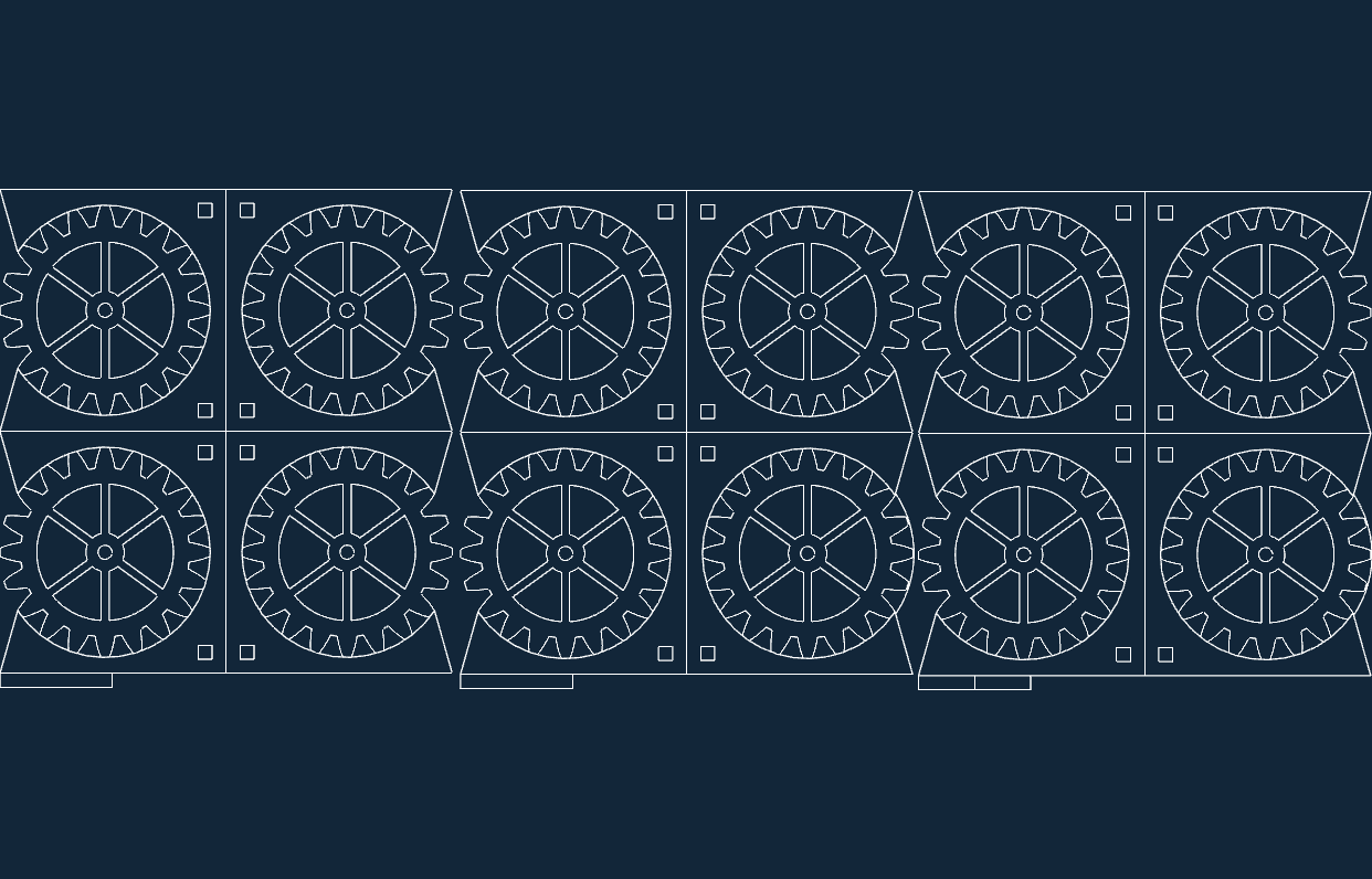 gear coasters in mm Free Dxf for CNC