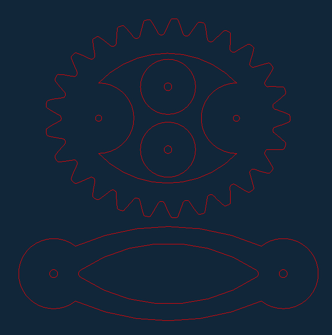 crosslink ellipse parts Free Gcode .TAP File for CNC