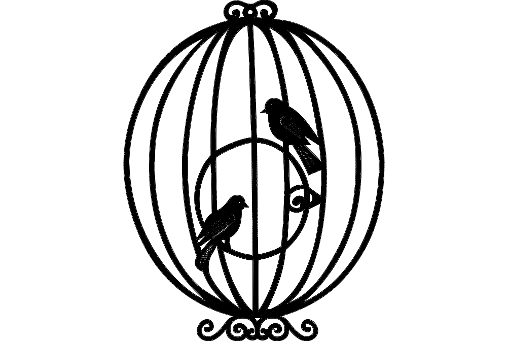 bird cage Free Gcode .TAP File for CNC