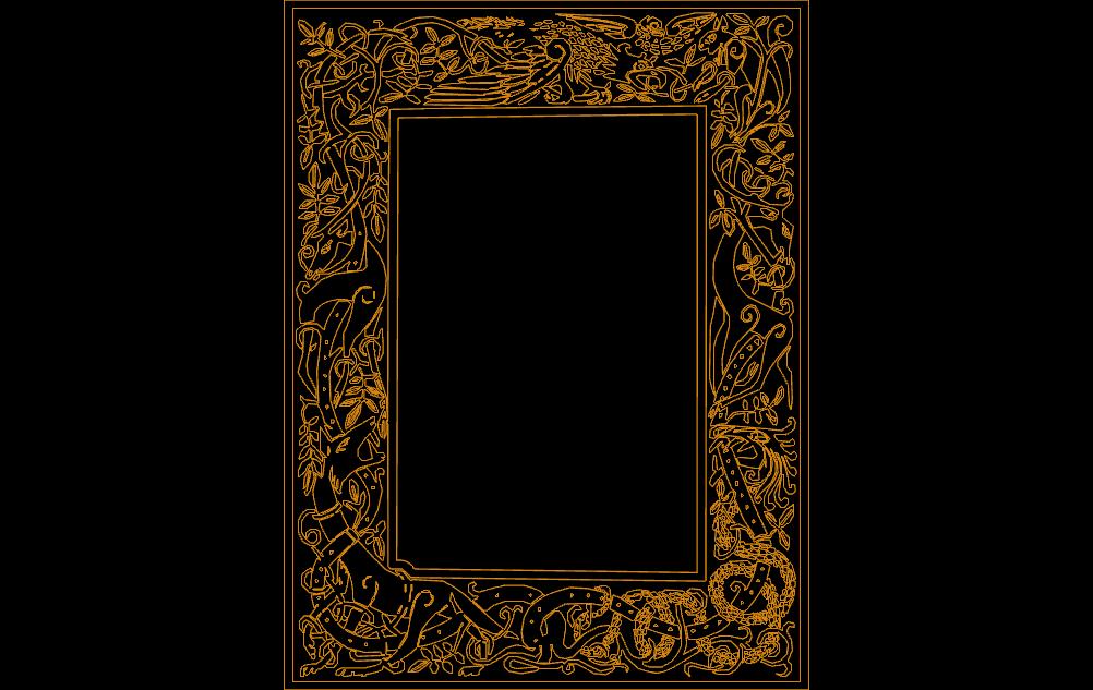 celtic clip art frame Free Gcode .TAP File for CNC