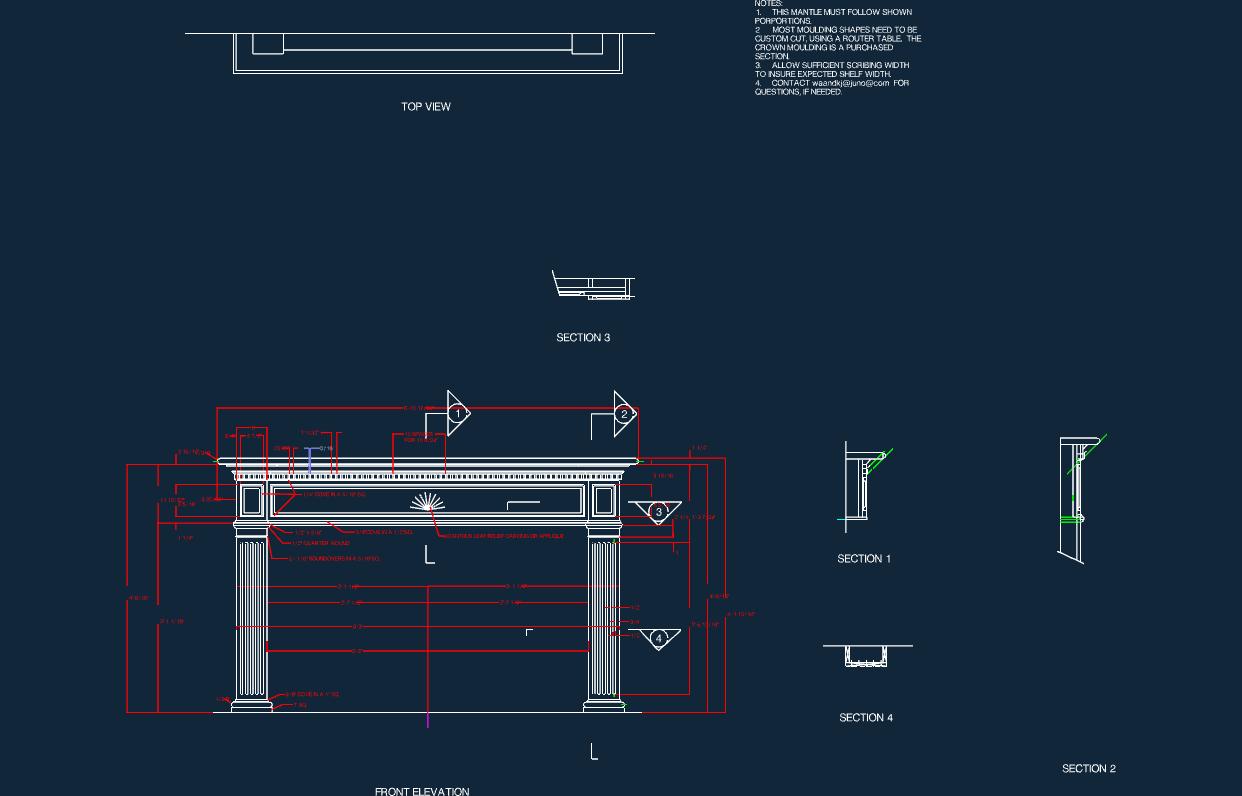 greek mantle Free Gcode .TAP File for CNC