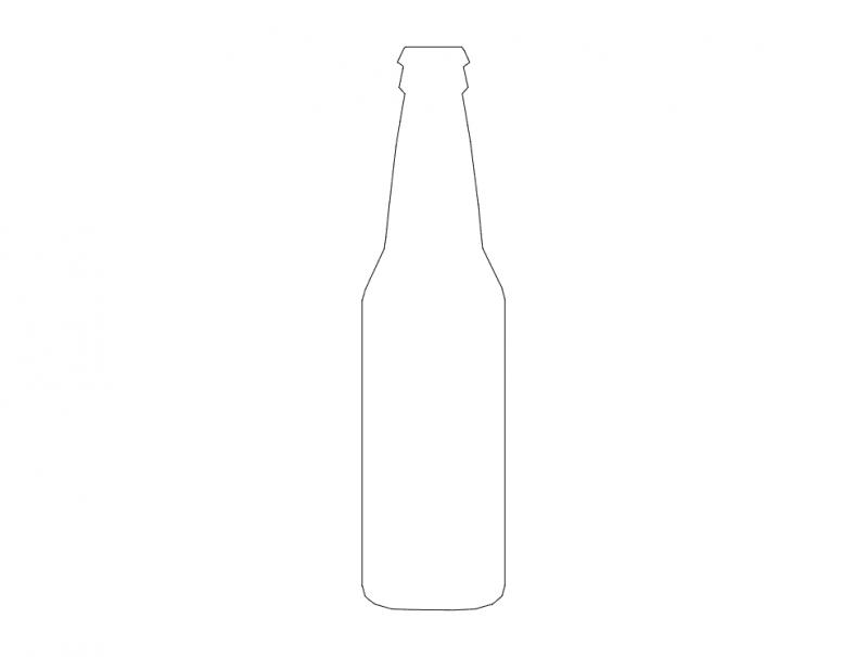 silueta de botella Free Gcode .TAP File for CNC
