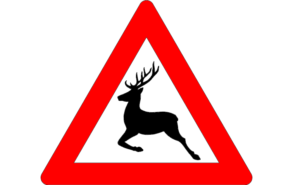 deer crossing sign Free Gcode .TAP File for CNC