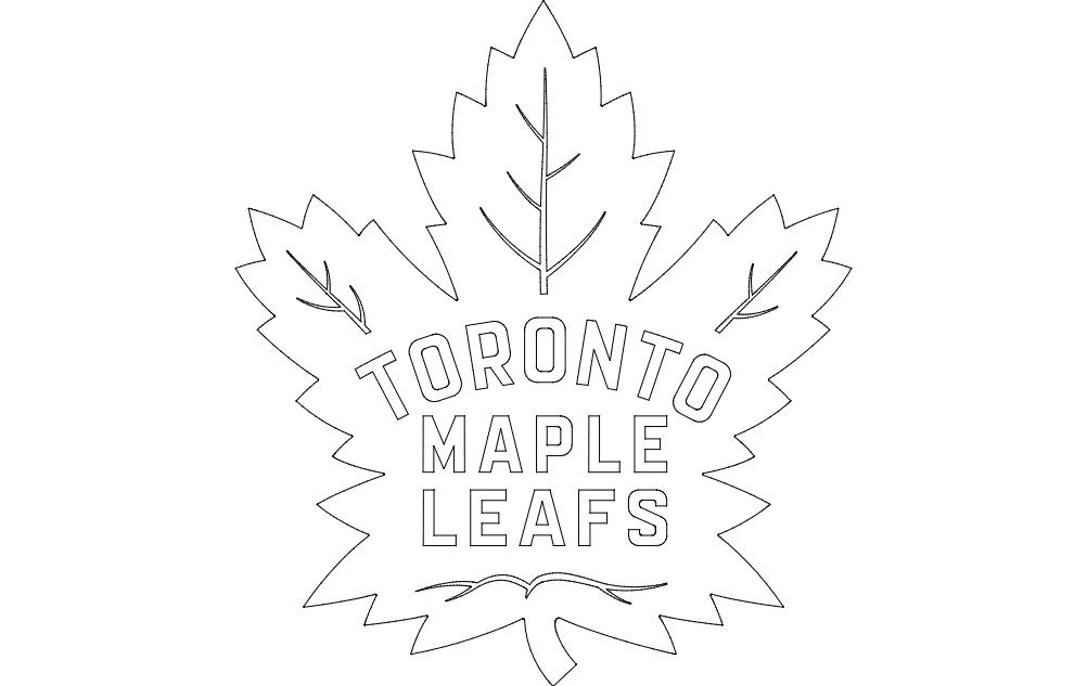 maple leafs Free Gcode .TAP File for CNC