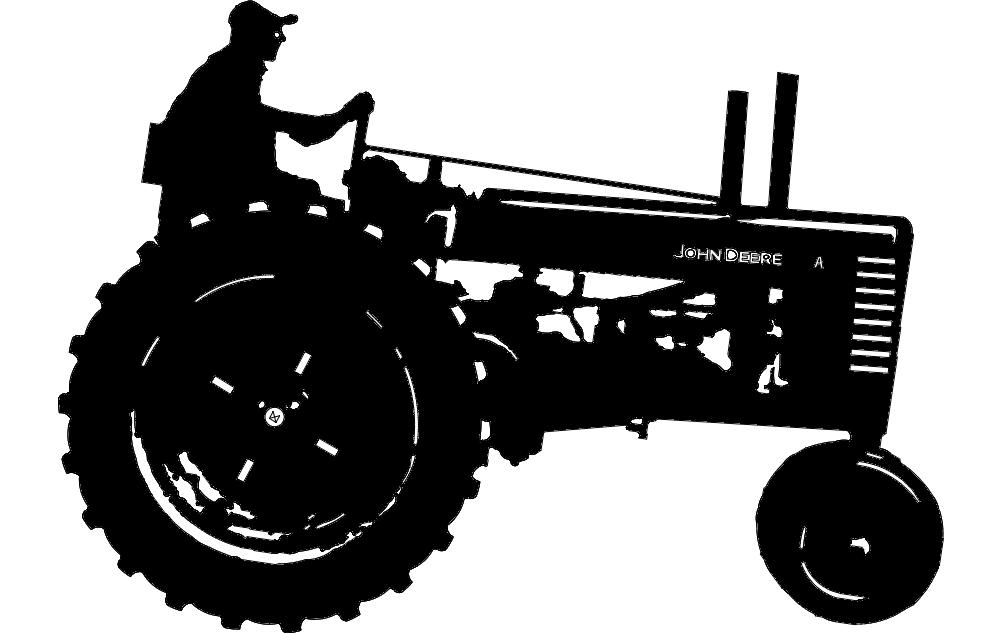 john deere-1 tractor Free Gcode .TAP File for CNC