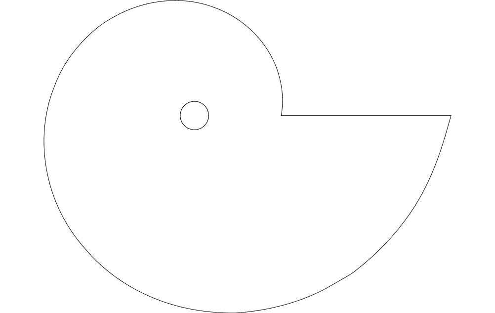 logarithmic spiral Free Gcode  TAP File for CNC File Free Download