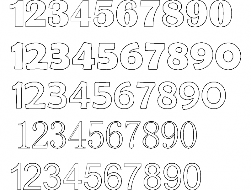 12345 number fonts Free Gcode .TAP File for CNC