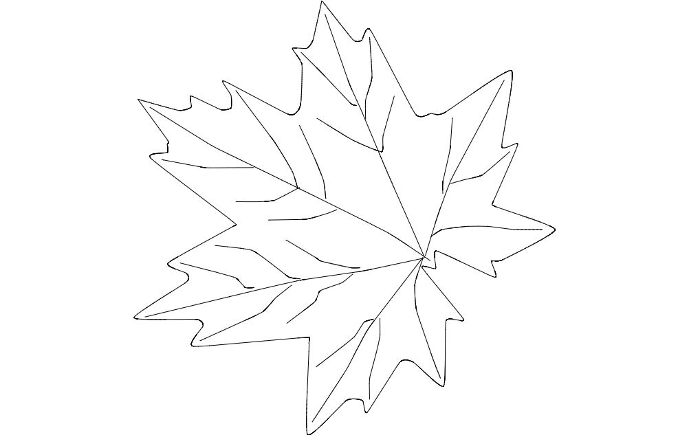 maple leaf Free Gcode .TAP File for CNC