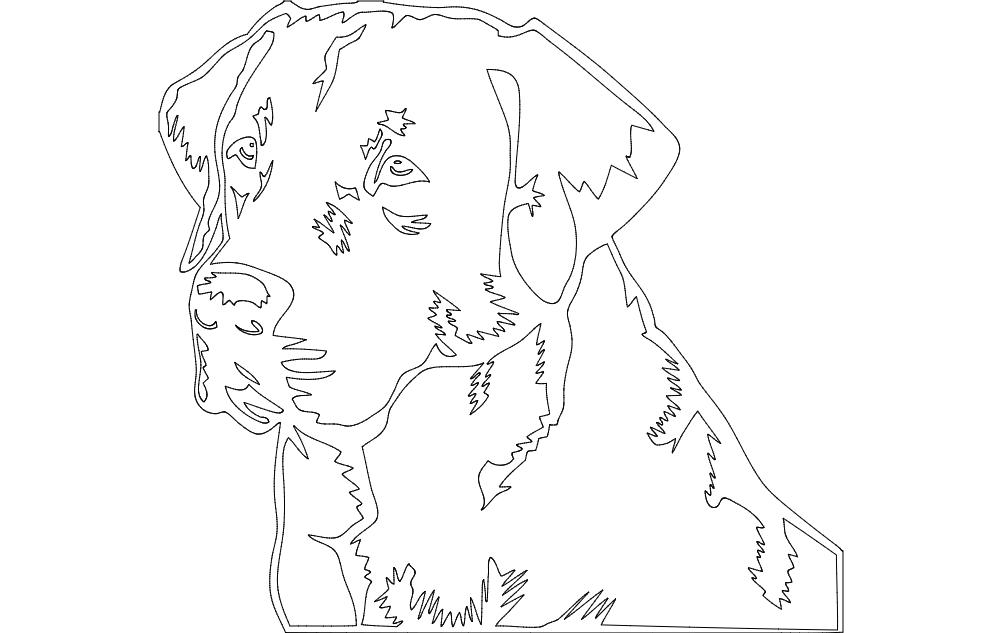 labrador retriever dog Free Gcode .TAP File for CNC