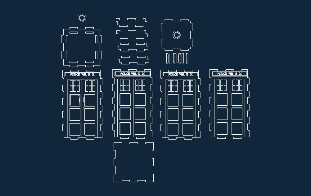 tardis layout Free Gcode .TAP File for CNC