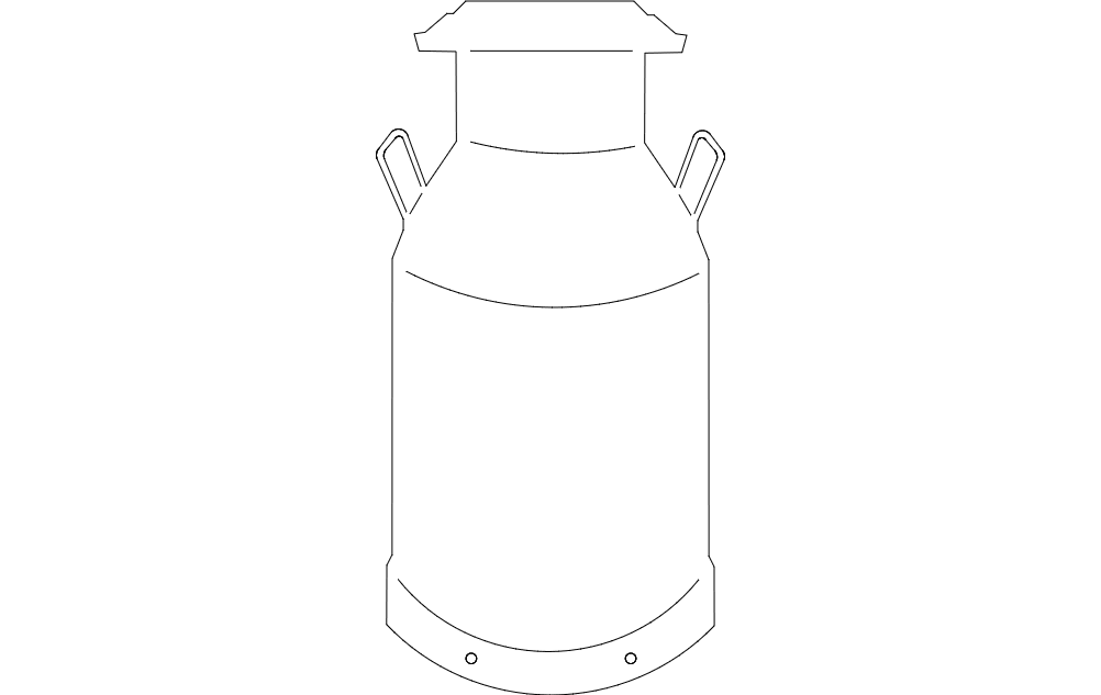 milkcan Free Gcode .TAP File for CNC