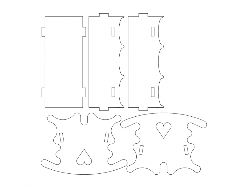 wiege Free Dxf File for CNC
