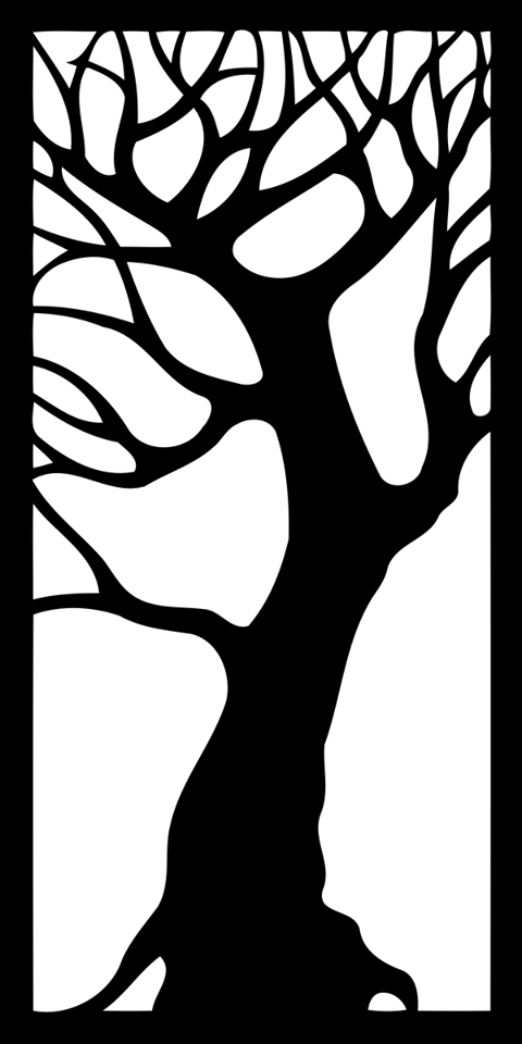 tree decorative panel Free Dxf File for CNC
