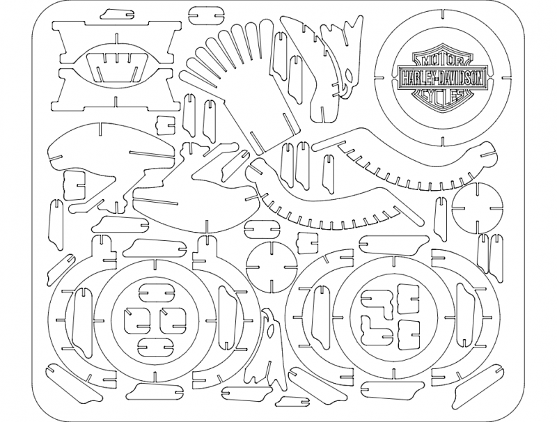 eagle harley Free Dxf File for CNC