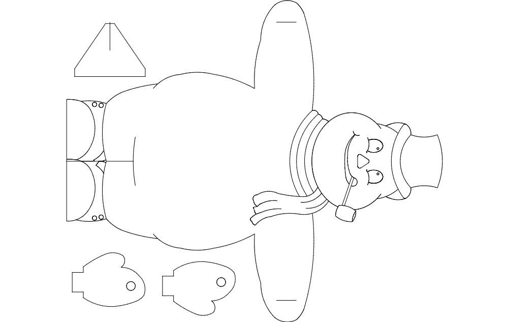snowman Free Dxf File for CNC