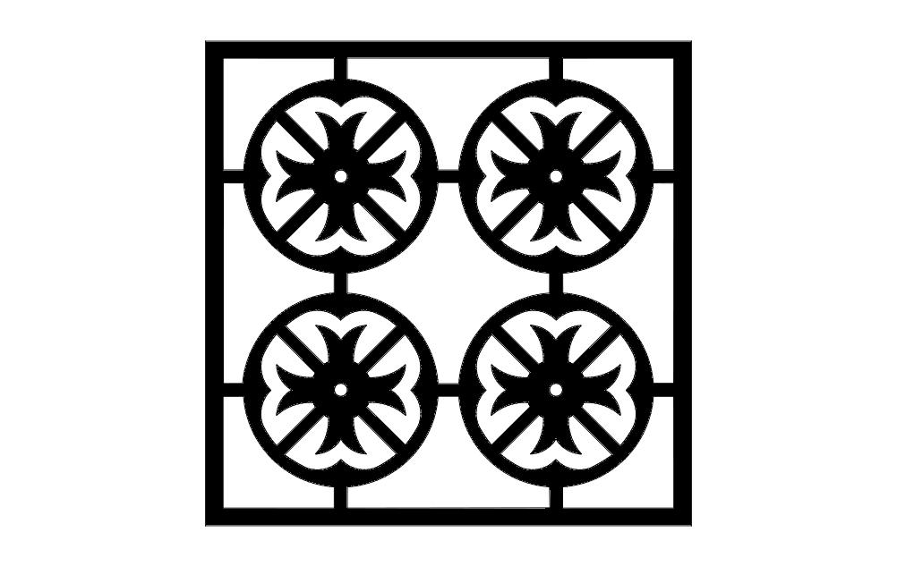pattern 1e Free Dxf File for CNC