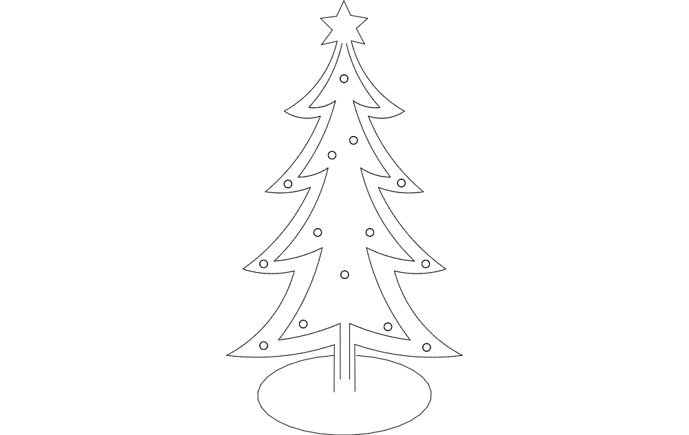 christmas tree Free Dxf File for CNC