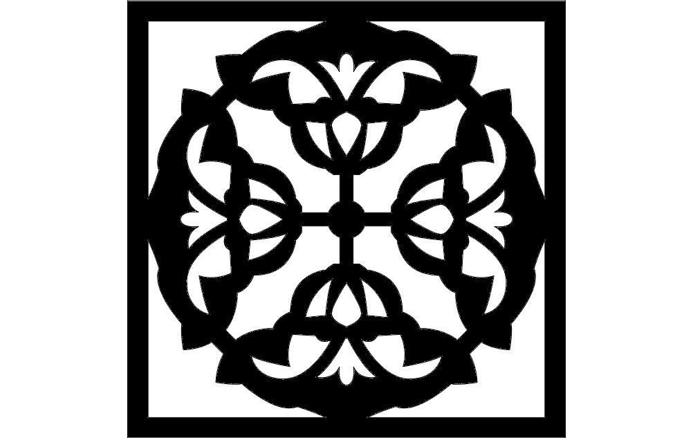 flower grille pattern Free Dxf File for CNC