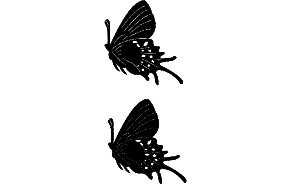 butterflies10 Free Dxf File for CNC