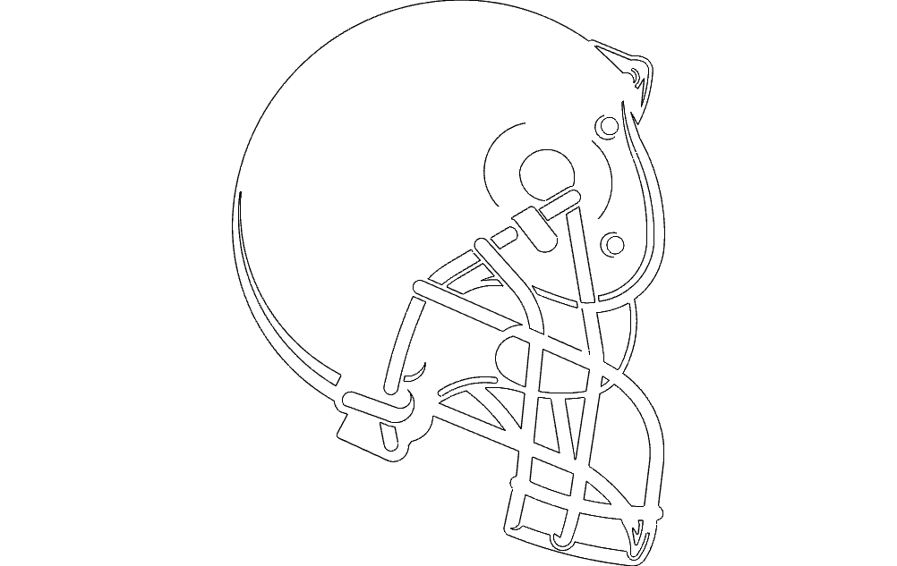 helmet boise small Free Dxf File for CNC