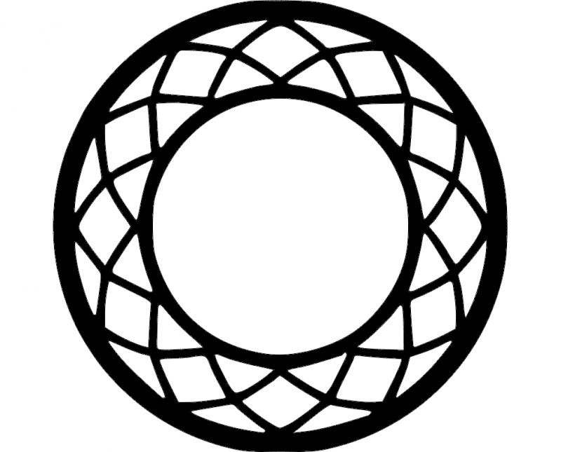 circle frame lace decoration Free Dxf File for CNC