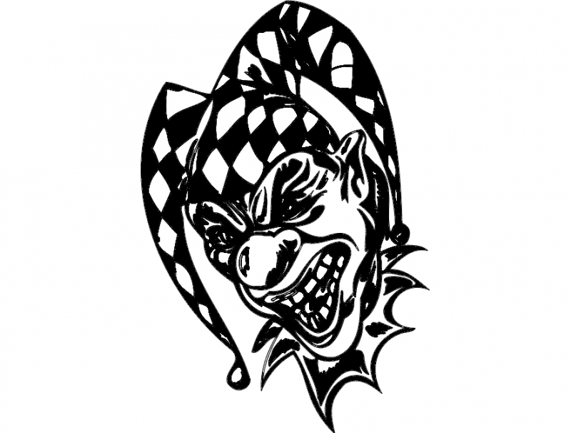 clown 050 Free Dxf File for CNC