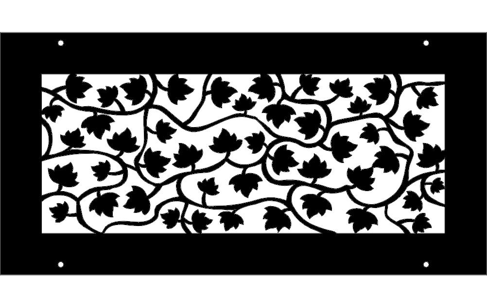vine pattern Free Dxf File for CNC