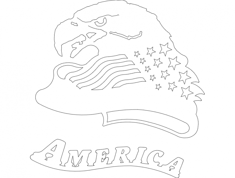 american eagle head Free Dxf File for CNC