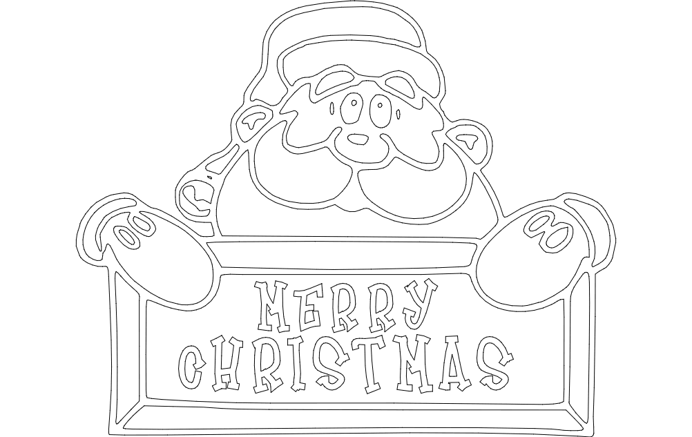 merry christmas vector Free Dxf File for CNC
