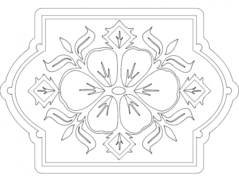 pattern 2 Free Dxf File for CNC