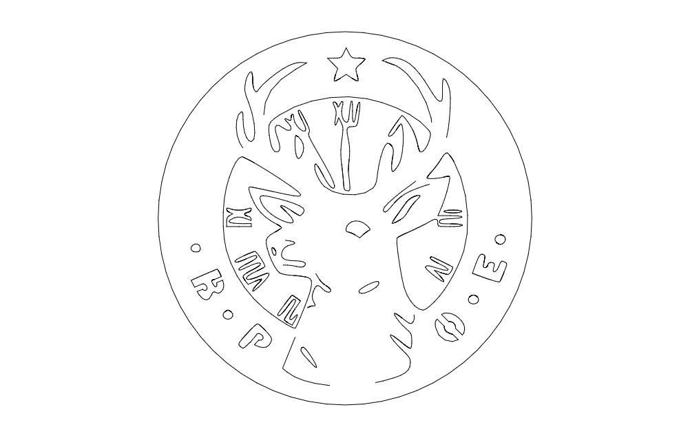 elks logo Free Dxf File for CNC