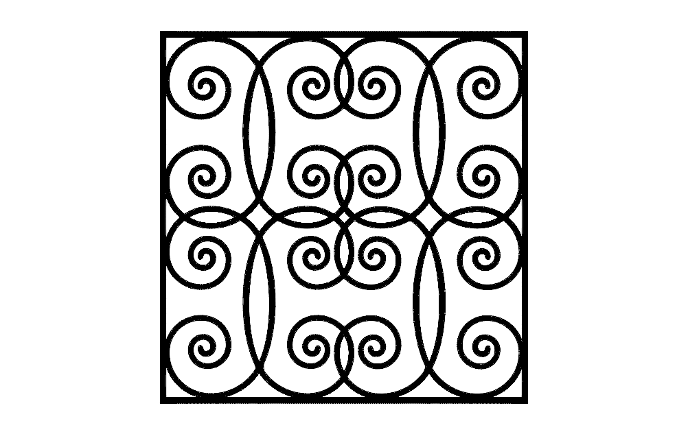ironwork grilles design Free Dxf File for CNC