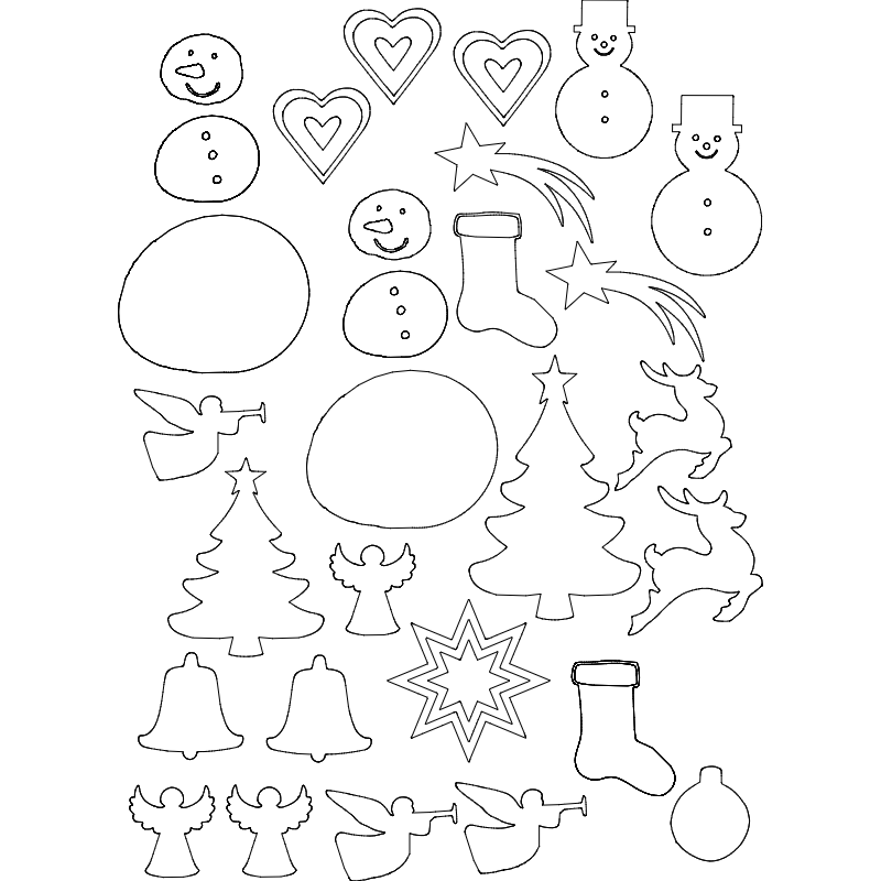 xmas cut patterns Free Dxf File for CNC