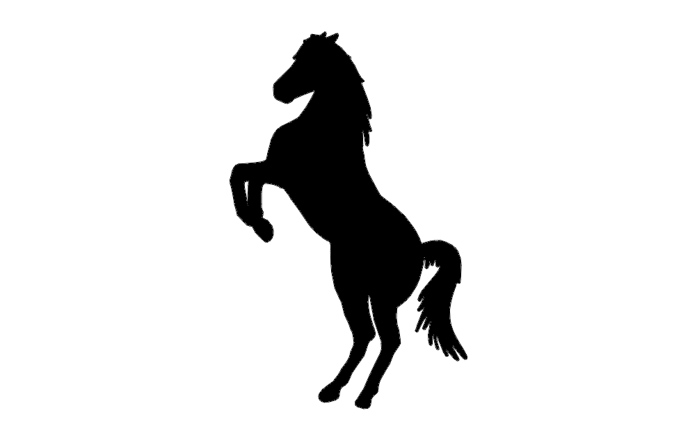 horse rearing up Free Dxf File for CNC