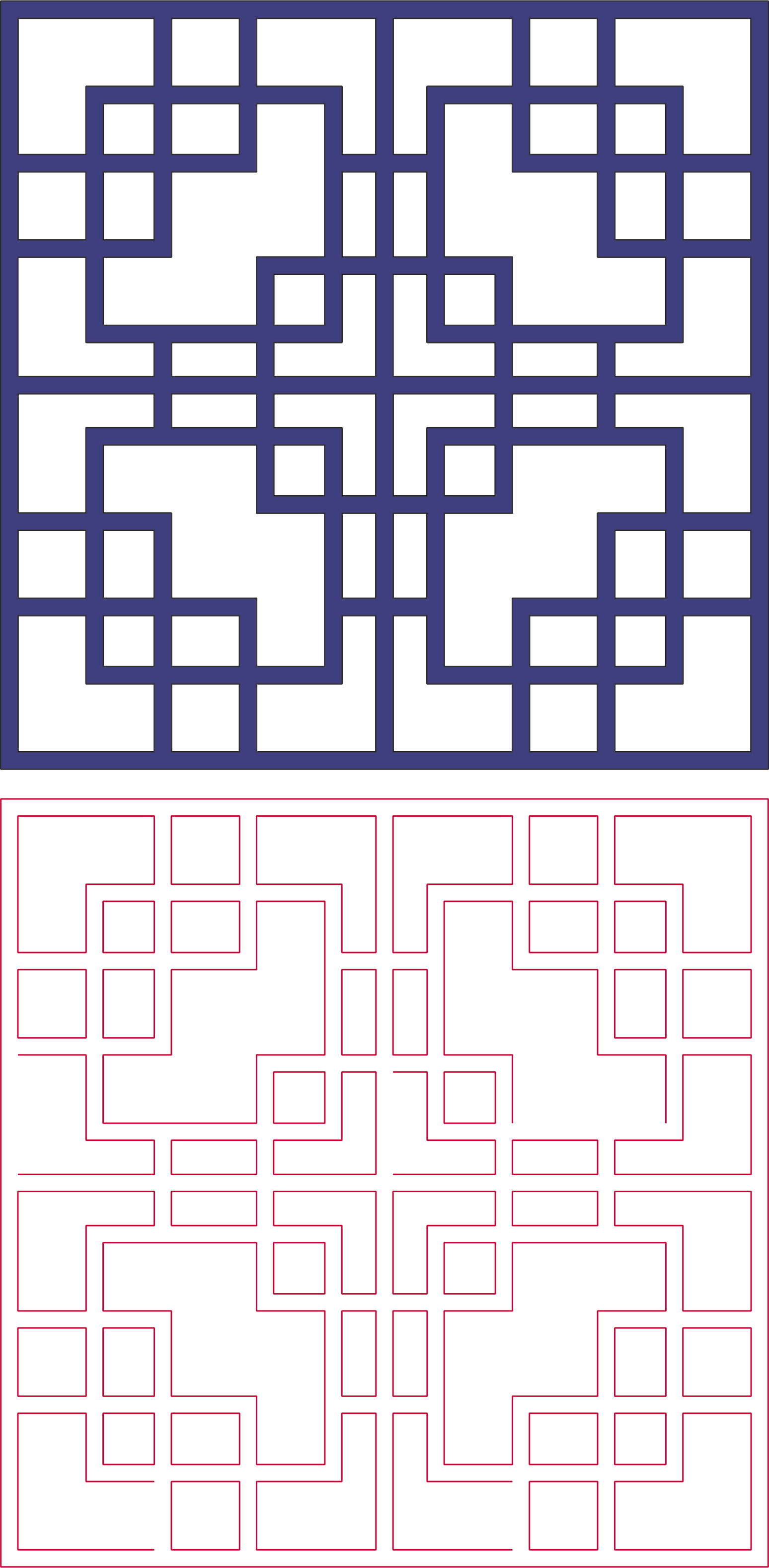 square pattern vector art Free Dxf File for CNC