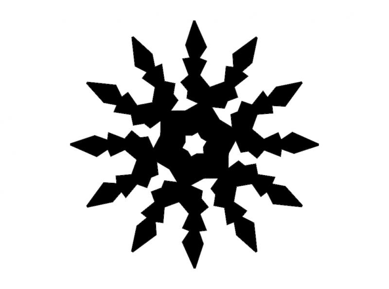 snowflake digital cut Free Dxf File for CNC