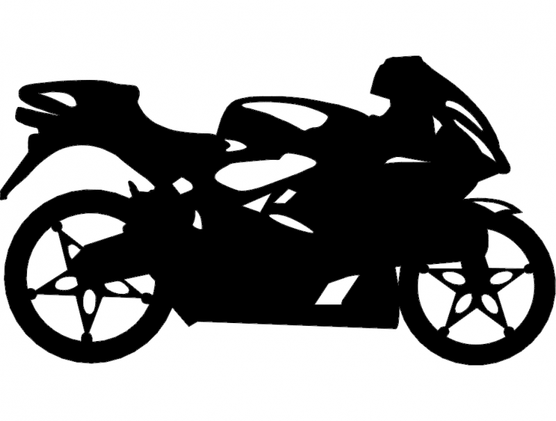 sport bike Free Dxf File for CNC