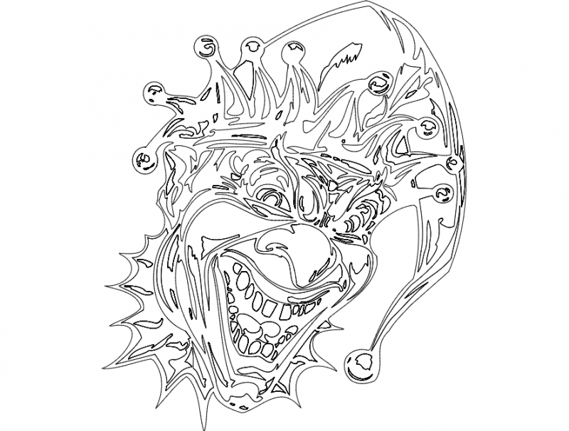 clown 005 full Free Dxf File for CNC