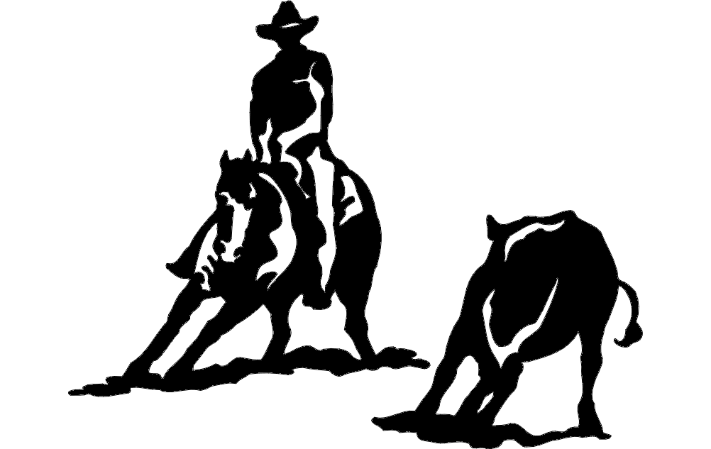 rodeo silhouette 2 Free Dxf File for CNC