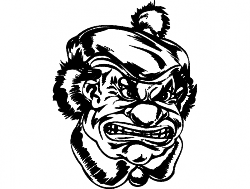 clown 049 Free Dxf File for CNC
