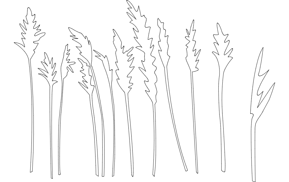 trees and plants Free Dxf File for CNC